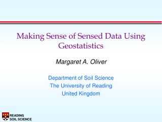 Making Sense of Sensed Data Using Geostatistics
