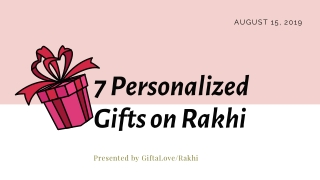 Personalised Gift Items for Rakhi Occasion