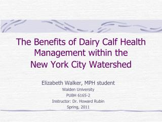 The Benefits of Dairy Calf Health Management within the  New York City Watershed