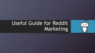 Reddit marketing ideas