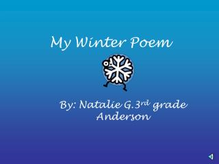 My Winter Poem