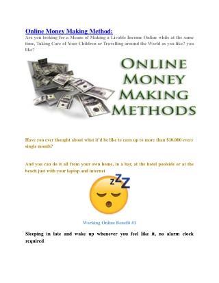 Online Money Making Technique