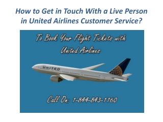 How to Get in Touch With a Live Person in United Airlines Customer Service?
