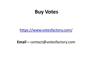 Buy Votes from Votes Factory