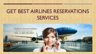 Book your Flight Tickets From Airlines Reservations