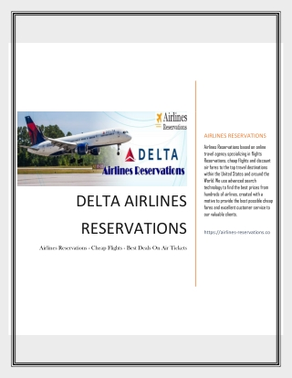 Dial Delta Airlines Reservations Toll Free Phone Number to Get Immediate Help Support