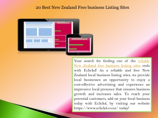 20 Best New Zealand Free business Listing Sites