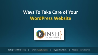 Ways To Take Care of Your WordPress Website