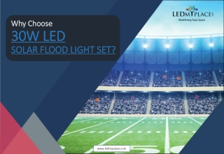 Use 30w led solar flood light its completely safe for use - USA