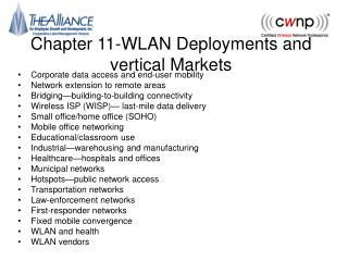Chapter 11-WLAN Deployments and vertical Markets