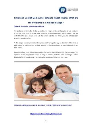 Childrens Dentistry Richmond | Children's Dentistry