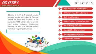 Odyssey Offering IT Enabled Services | Website Development Company Delhi