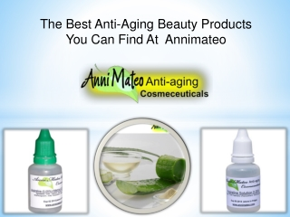 The Best Anti-Aging Beauty Products You Can Find At Annimateo