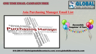 Asia Purchasing Manager Email List