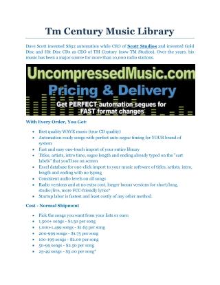 Tm Century Music Library