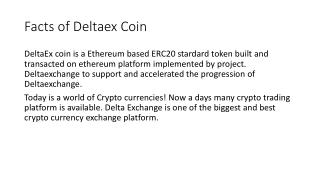 Facts of Delta Exchange