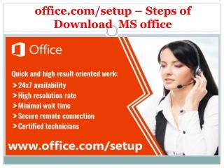 office.com/setup - Steps of Download MS office