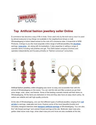 Buy Artificial Jewellery Online in India