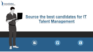Source the best candidates for IT Talent Management