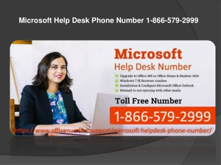 Microsoft Help Desk Phone Number 1-866-579-2999