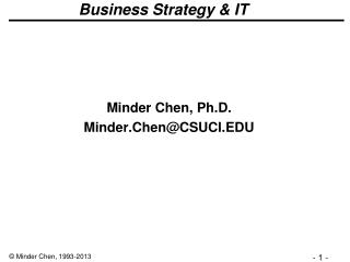 Business Strategy & IT