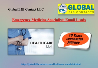 Emergency Medicine Specialists Email Leads