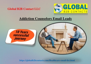 Addiction Counselors Email Leads
