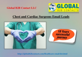 Chest and Cardiac Surgeons Email Leads