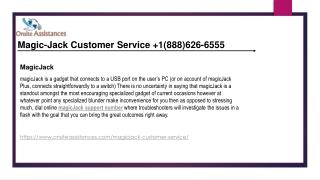 Magicjack Customer Service  1(888)626-6555 Magicjack support number