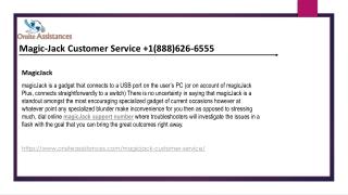 Magicjack Customer Service  1888-626-6555 Magicjack support number