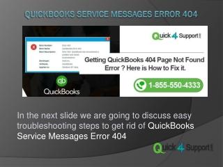 QuickBooks Service Messages Error 404