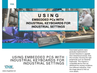 Using Embedded PCs with Industrial Keyboards for Industrial Settings