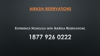 Experience Honolulu with AirAsia Reservations