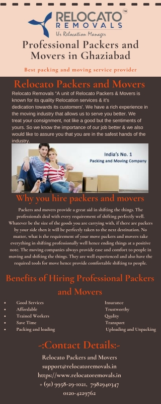 Professional Packers and Movers in Ghaziabad