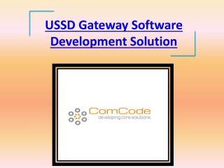 USSD Gateway Software Development Solution