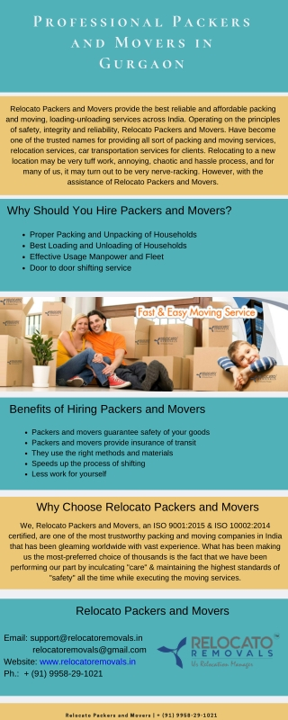 Professional Packers and Movers in Gurgaon