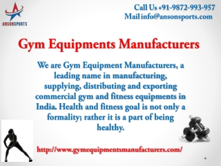 Get the best gym and exercise equipments