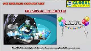 EHS Software Users EmailList