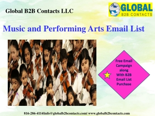 Music and Performing Arts Email List