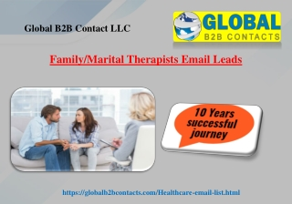 Family Marital Therapists Email Leads