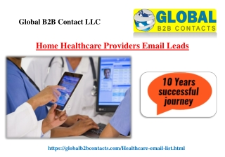 Home Healthcare Providers Email Leads