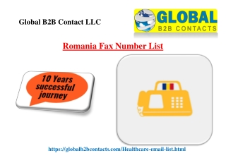 Romania Fax Number List