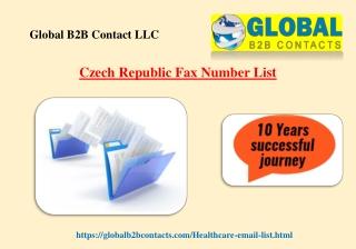 Czech Republic Fax Number List