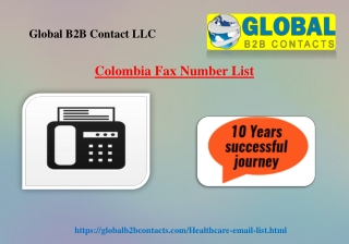 Colombia Fax Number List