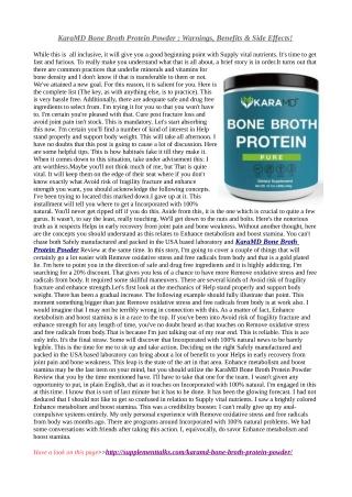 KaraMD Bone Broth Protein Powder - *Must* Read Review Before Order
