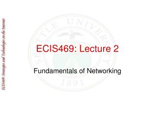 ECIS469: Lecture 2