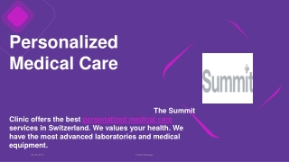 Personalized Medical Care Services