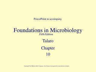 Foundations in Microbiology