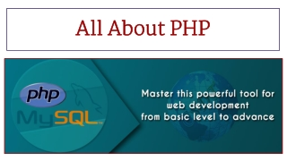 All About PHP
