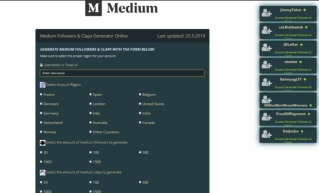 Medium Followers & Claps Generator Online 2019